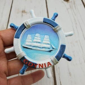 Fridge Magnet Gdynia Ship Poland Souvenir Resin